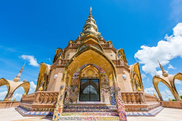 Beautiful Pagoda of Wat Pha Sorn Kaew