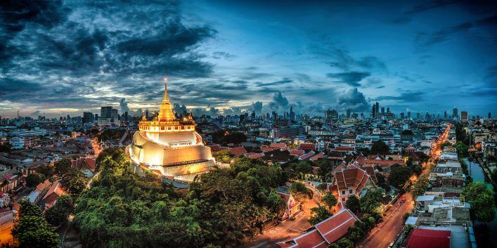 Best temples in Bangkok -Wat Saket The Golden Mount Temple