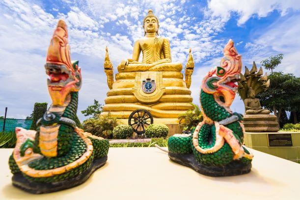 Brass Buddha Statue near the Big Buddha Phuket, Thailand