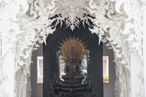 Buddha Image at Wat Rong Khun or White Temple-Chiang Rai Thailand