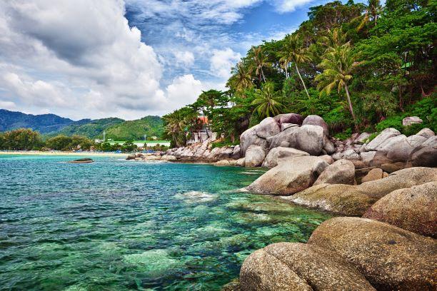 Exotic tropical ocean shore - Thailand, Phuket, Karon Beach