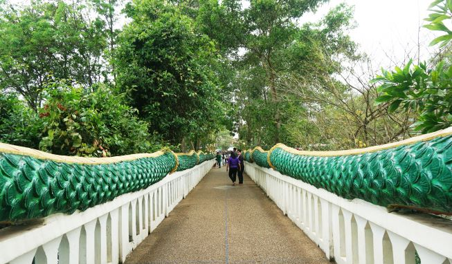 Path ways lead to forest at Kham Chanod temple (Buddhist forest temple )