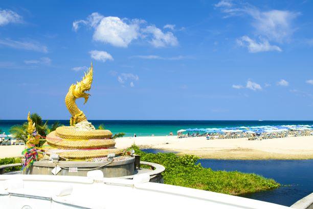 Serpent Statue landmark of Karon Beach, Phuket Thailand