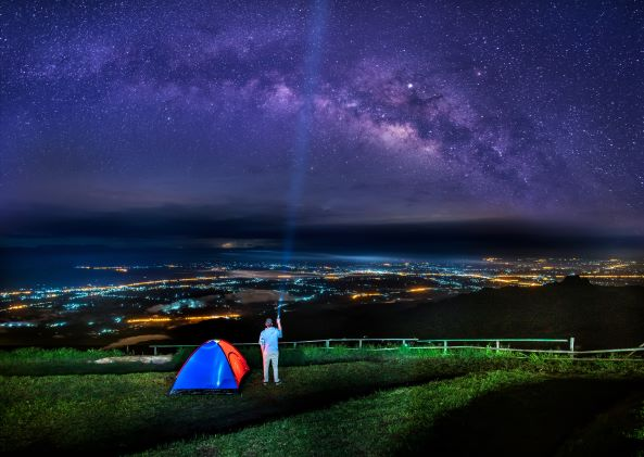 The Milky Way galaxy on Phu Thap Boek, Phetchabun , Thailand