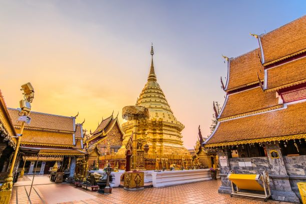 Wat Phra That Doi Suthep in Chiang Mai Thailand