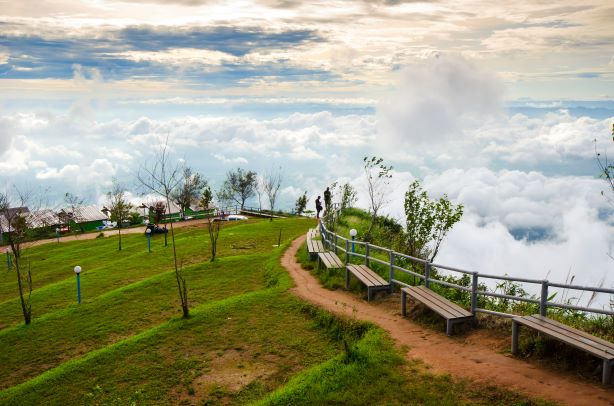 beautiful mist at Phu Thap Boek -Phetchabun Thailand