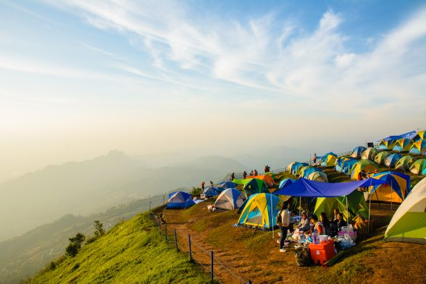 cold weather at Phu thap buek in morning, Phetchabun Thailand