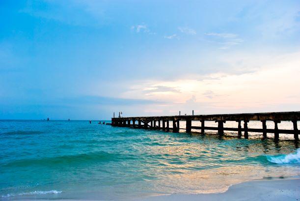 landscape of Hua Hin beach,Thailand