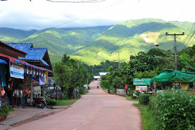 Baan Sapan, a village with a small river flowing through the villagers