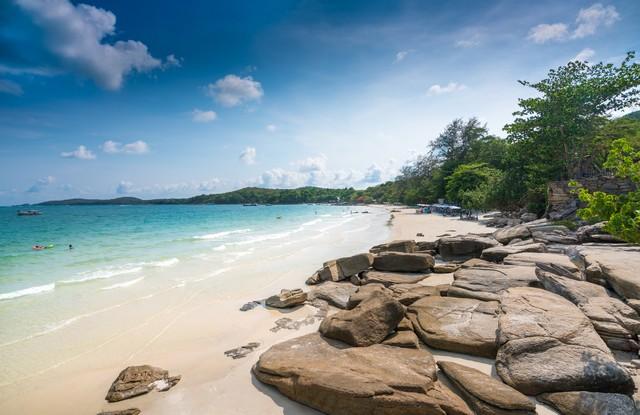 Beautiful beach and sea Sai Kaew Beach
