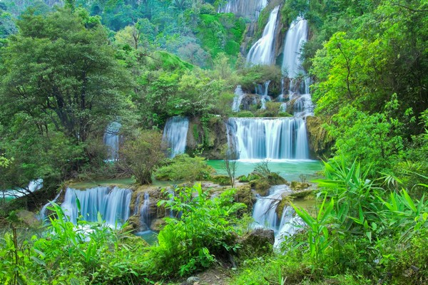 Biggest waterfall of Thailand