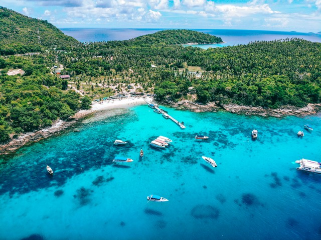 Bird Eye View of The Racha Island, Phuket, Thailand