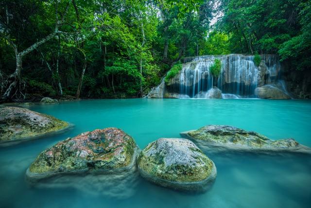 Erawan waterfall National Park, Kanchanaburi, Thailand