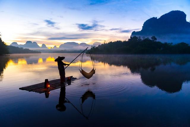 Fishing at Nong Talay in Krabi