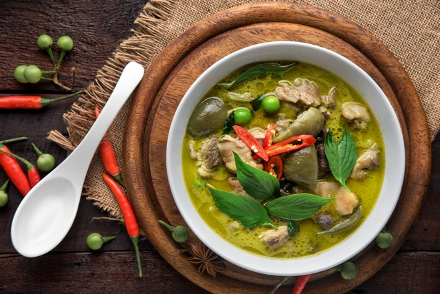 Green Chicken Curry-Thai Food