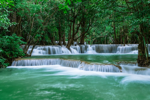 Huai Mae Khamin Waterfall level 2
