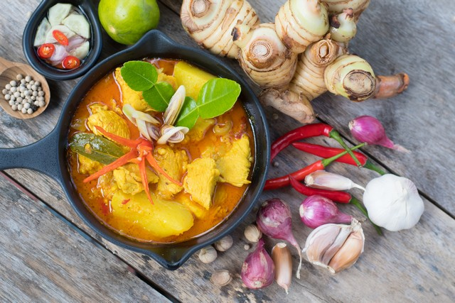 Ingredients for Yellow Curry Chicken