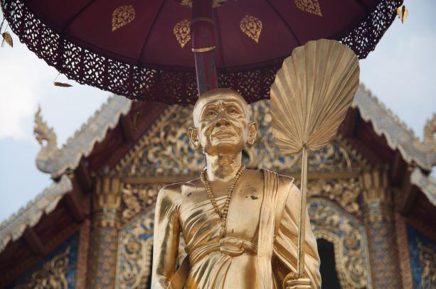Kru Ba Srivichai Monument in Phra Singh temple