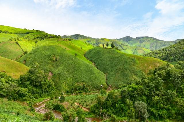 Landscape view of the mountains in Doi Phu Kha national park, Nan, Thailand