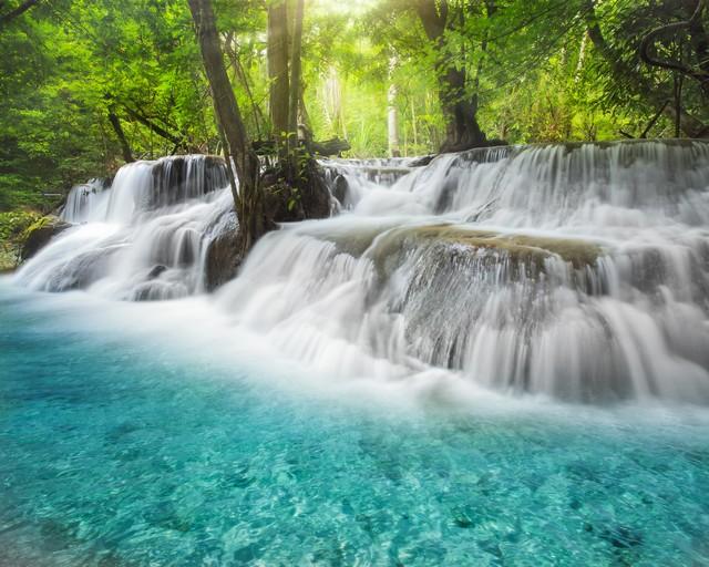 Level six of Erawan Waterfall in Kanchanaburi