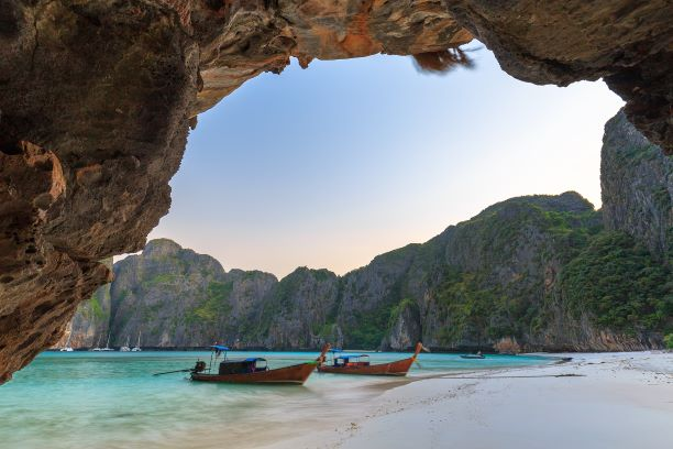 snorkeling point famous tour lagoon in Phi Phi Islands, Krabi , Thailand