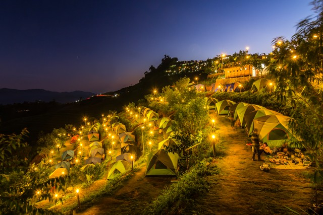 Mon Jam is a tourist attraction in Chiang Mai as it's famous for camping and strawberry farm.