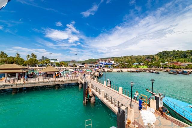 Phi Phi Island Pier in Thailand