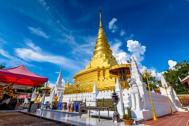 Phra That Chae Haeng temple in Nan, Thailand