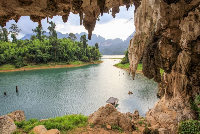 Ratchaprapa Dam in Surat Thani province, South of Thailand
