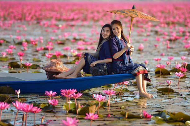 Red Lotus Lake (Red water lilly lake)- Udon Thani