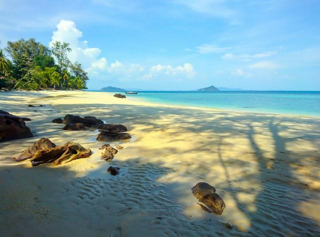 Rock on the beach Koh Bulone Satun, Thailand