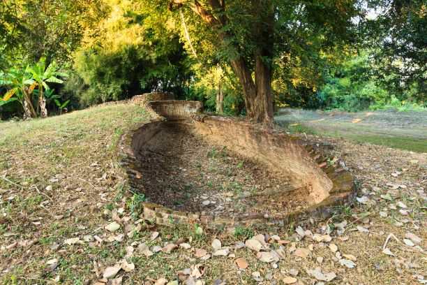 Ruin of Celadon Klin Site, Sri Satchanalai Historical Park, Thailand