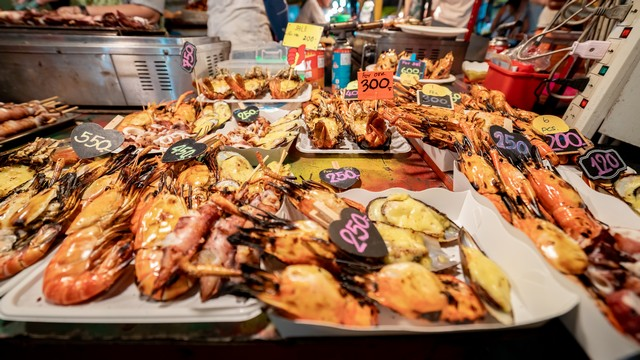 Sea food at Krabi Walking Street