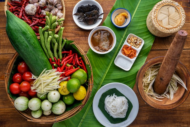 Nutritions from the Ingredients of Papaya Salad