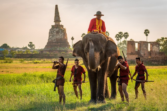 The Importance of the  auspicious animal in Thai History