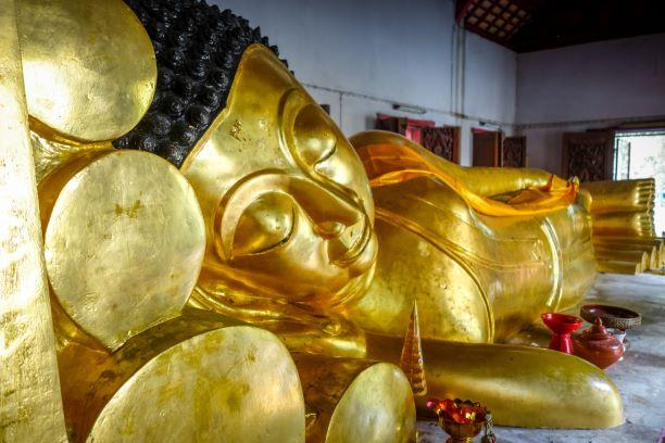 The Reclining Buddha in Wat Phra Singh