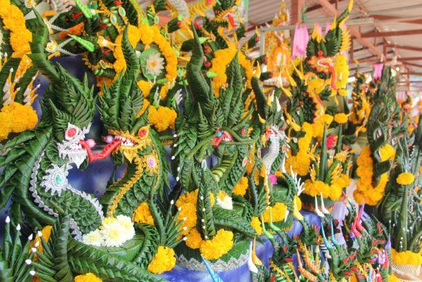 The Sacrifice Things to Worship at Kham Chanot temple-Udon Thani