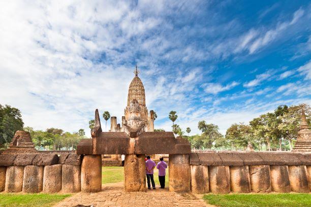 The Wall of Wat Phra Si Rattana Mahathat
