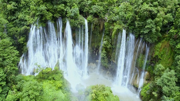 Thi Lo Su largest and highest waterfall in northwestern Thailand