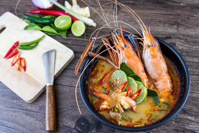 Tom Yum Goong-Thai Food Soup