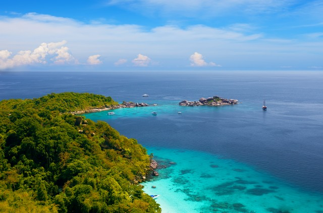 View from a viewpoint on the island Miang, Similan islands