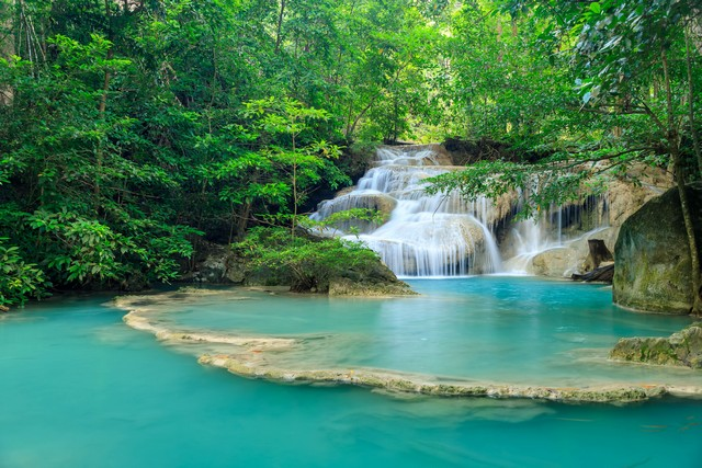 Waterfall level 1, Erawan National Park