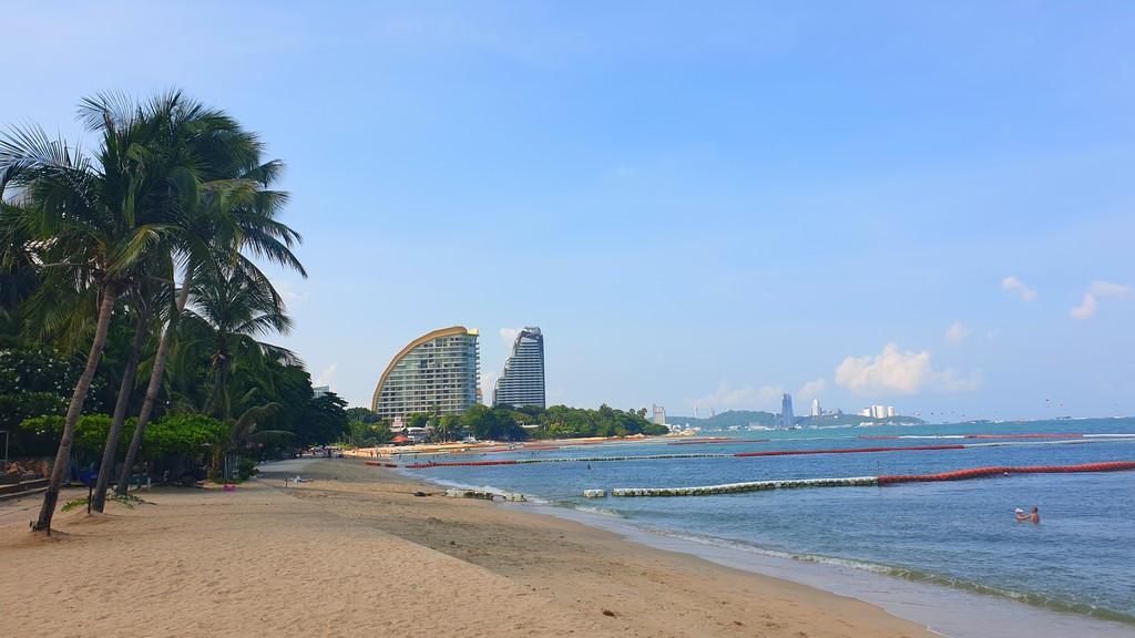 along the peaceful beach