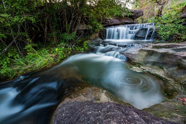 beautiful small waterfalls and plants in Ubon Ratchathani
