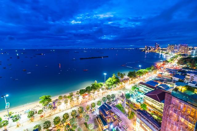 pattaya city Thailand at night