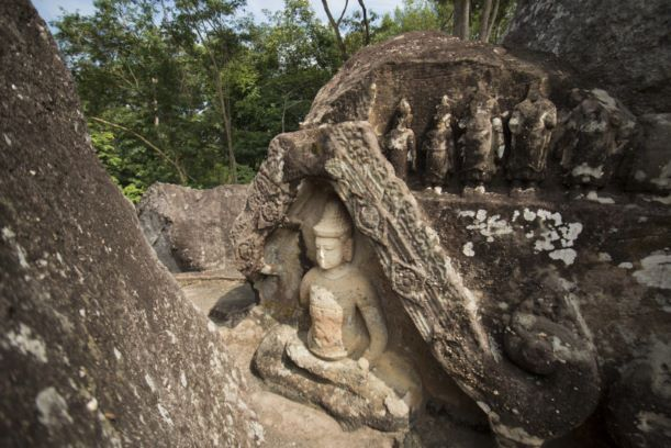 prehistoric Cave (The Monk Cave) in Phu Phra Bat National Park