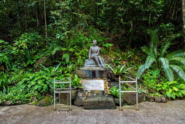 the statue Queen Sunandhakumariratana at Namtok Phlio National Park Chanthaburi