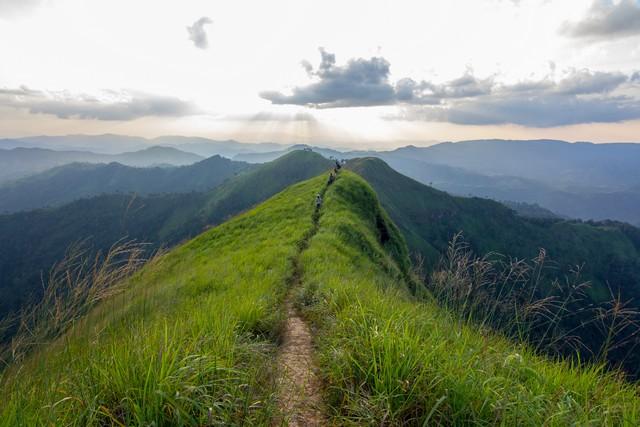 Khao Chang Phueak- mountain in Thong Pha Phum national park, Kanchanaburi, Thailand