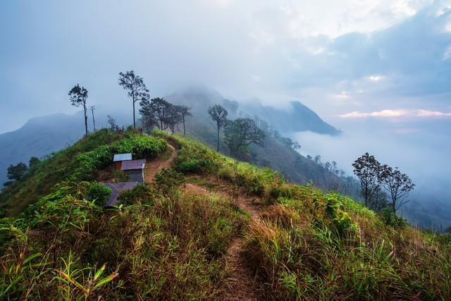 Popular Place for Trekking and Camping at Thong Pha Phum National Park ,Thailand