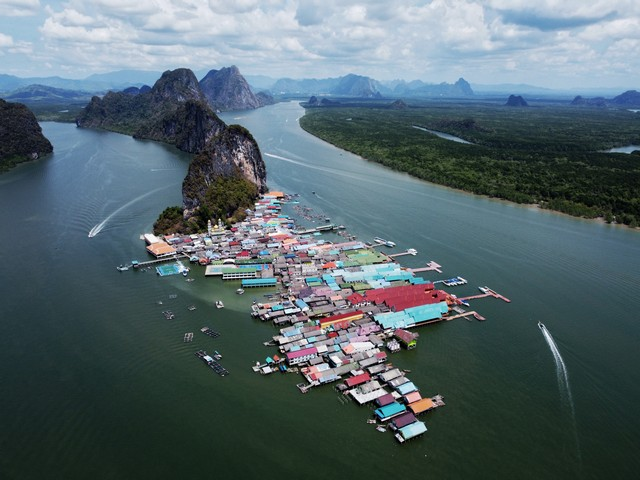 Koh Panyee. Amazing picture by drone